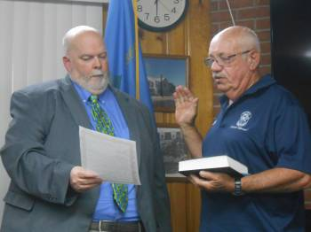 Charles W. Baugher, Jr. is sworn in as Council Member for the 5th District.